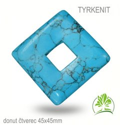 TYRKENIT  donut ctverec 45x45mm
