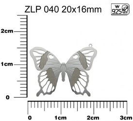 privesek MOTYL AG925 STRIBRO ZLP 040 20x16mm