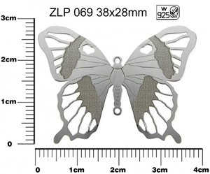 privesek MOTYL AG925 STRIBRO ZLP 069 38x28mm