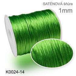 satenova snura 1mm K0024-14 zelena