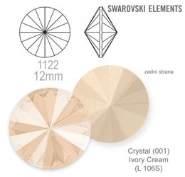 swarovski rivoli 1122 Crystal Ivory Cream 12mm