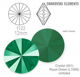 swarovski rivoli 1122 Royal Green 12mm