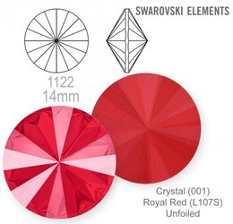 swarovski rivoli 1122 Royal Red 14mm